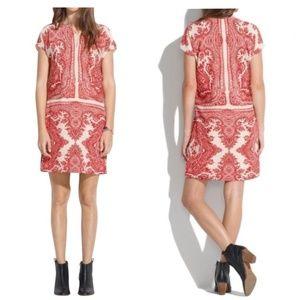 Madewell 🌿 Silk Paisley Tunic Dress